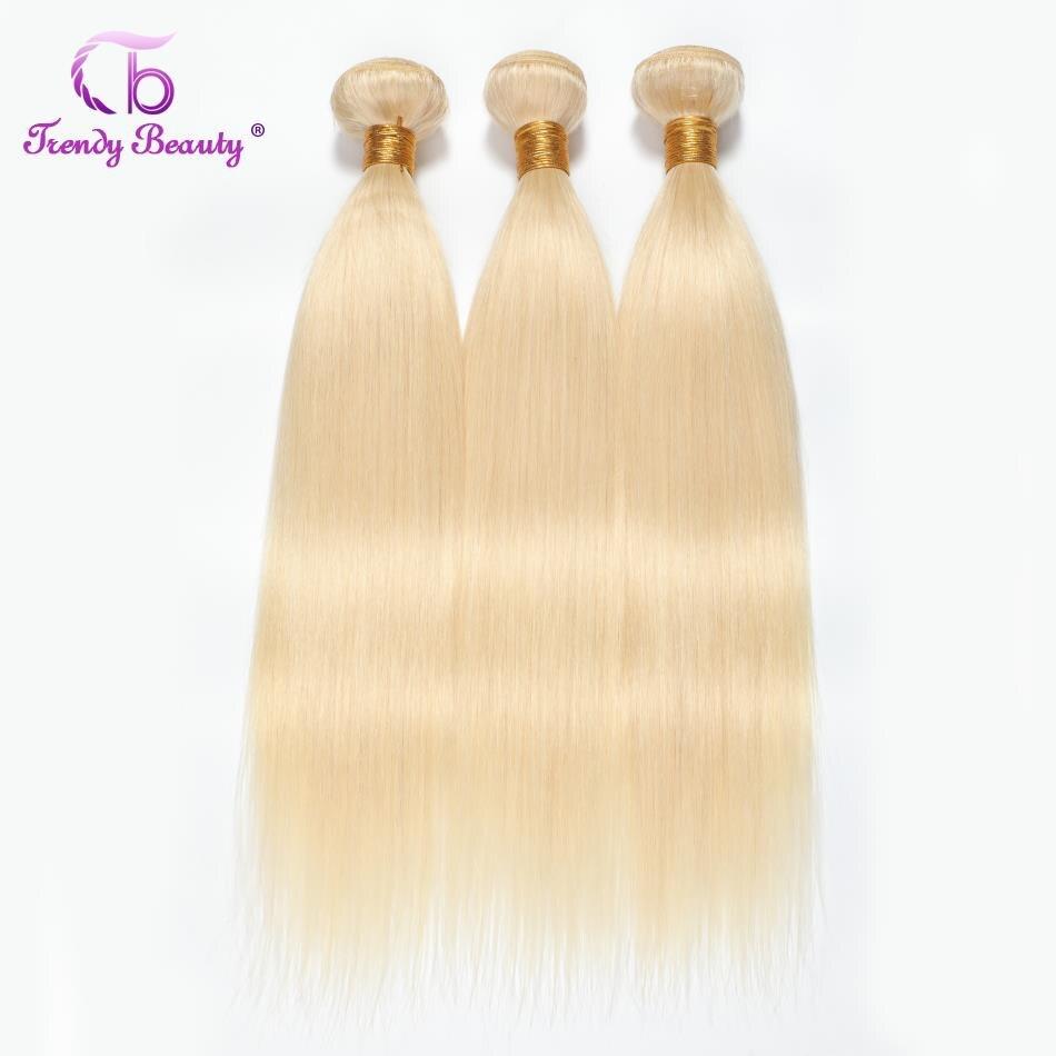 Moda beleza Cabelo Liso Peruano Tecer 3 Agrupa 613 Extensões de Cabelo Loiro 100% Remy do cabelo humano Frete grátis