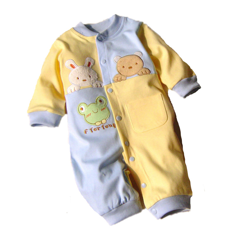 2017 Baby Rompers Cotton Long Sleeve 0-12M Baby Clothing Overalls for Newborn Baby Clothes Boy Girl Romper Ropa Bebes Jumpsuit baby rompers cotton long sleeve 0 24m baby clothing for newborn baby captain clothes boys clothes ropa bebes jumpsuit custume