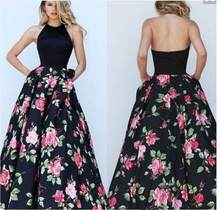Summer New Style Fashion Women Formal full swing print dress Party Ball Prom Gown Comfortable Dress(China)