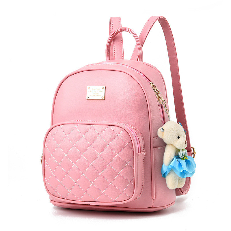 2017 New Arrival Female Bags Concise Sweet Leisure Fashion Korean Style Backpacks Solid Color Pink Black
