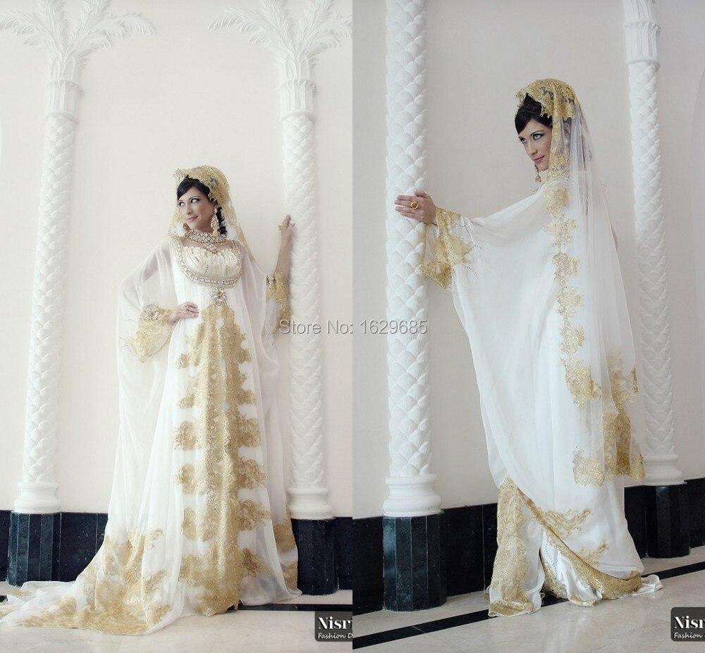 2015 vestidos sweetheart long sleeves golden lace diamond for Wedding dresses in dubai prices