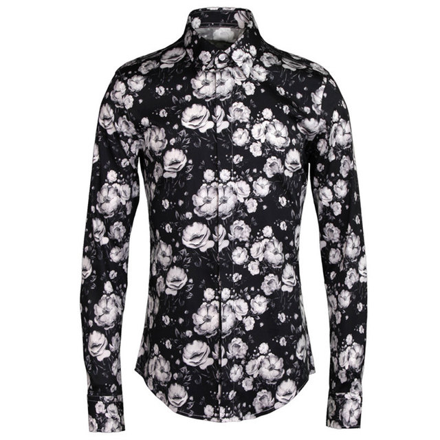 f10f190d39 New Autumn Camisa Social Shirts Men s Long Sleeve Floral Casual Shirt  Stylish Cotton Slim Fit Luxury Dress Shirts Tops Big 4XL
