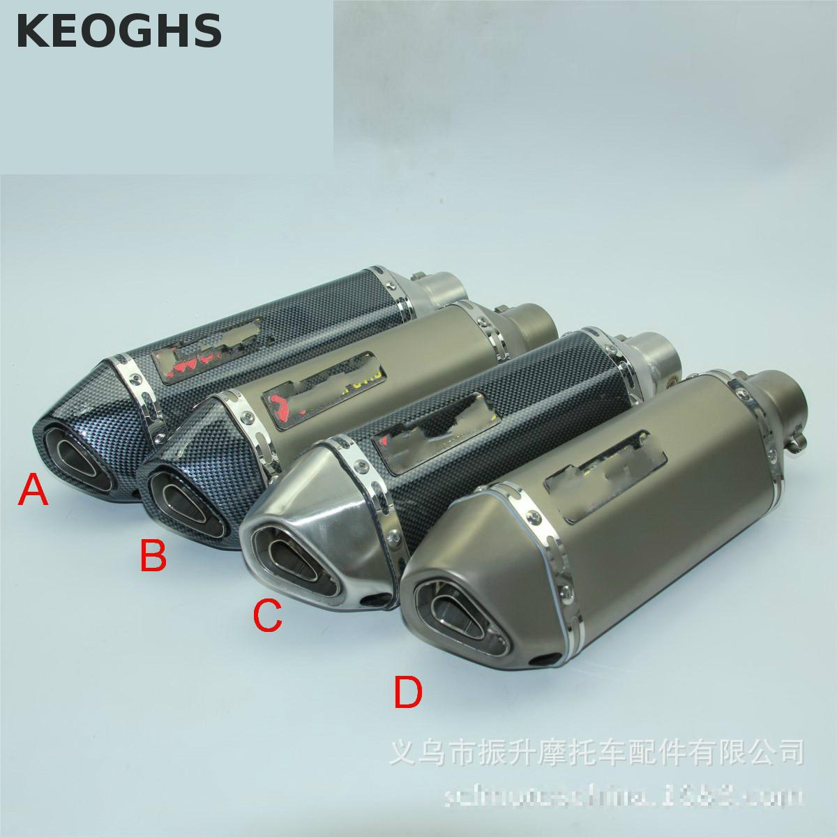 Keoghs Universal Motorcycle Modified Scooter Exhaust Muffle Pipe Gy6 Cbr Cbr125 Cbr250 Cb400 Cb600 Yzf Fz400 Z750 Nice Sound universal gy6 motorcycle scooter modified muffler exhaust pipe cbr 125 250 cb400 cb600 yzf fz400 z750 racing fit most motorcycle