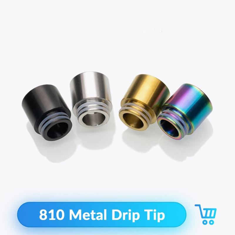 Quartz Banger Metal Drip Tip 810 Wide Bore Mouthpiece For V8 RDA RTA Atomizers Vaporizador E Cig Drip Tip Vape Accessories