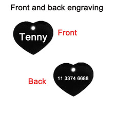 Heart Shaped 2PC Aluminium Dog Tags With Free Custom Engraving