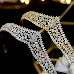 Image 5 - Asnora מדהים גבישי נסיכת נזר nupcial כלה מצנפות כלה שיער אביזרי coroa דה noiva