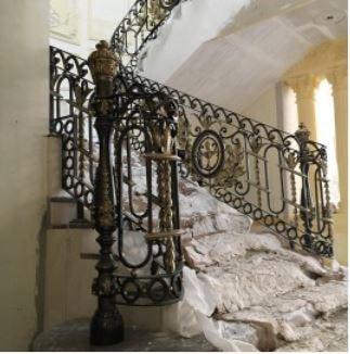 wrought iron balcony metal balustrade panels rustic iron balusters