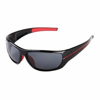 d48e33da95 Deportes hombres gafas de sol polarizadas al aire libre pesca reloj viento  gafas con el caso 2018 nuevo