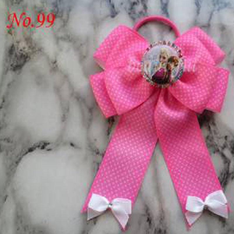 100 bénédiction bonne fille Boutique 5x6.5 Bowknot queue de cheval cheveux arc élastique 128 No.