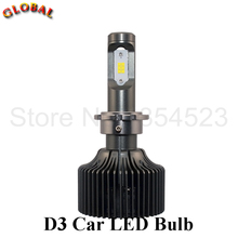 2PCS Energy Saving Car LED Headlight Bulb D3S/D3R Single Beam for Korea CSP Chip 5000/6000K 50W 5000LM Car Headlight Replacement