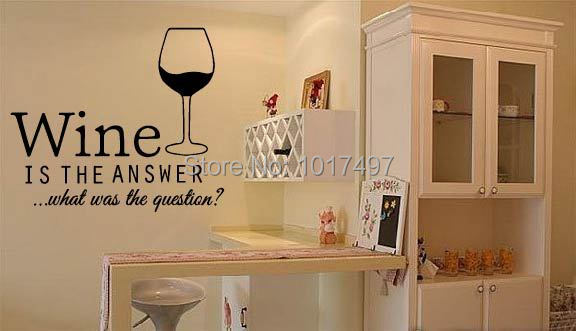 Free Shipping Funny Bar Pub Wall Art Stickers Wine Decals - Free promotional custom vinyl stickers