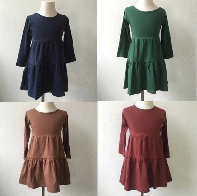 cdb9590160cc high quality girls fall boutique monogram blanks clothing kids cotton  frocks design spring dress