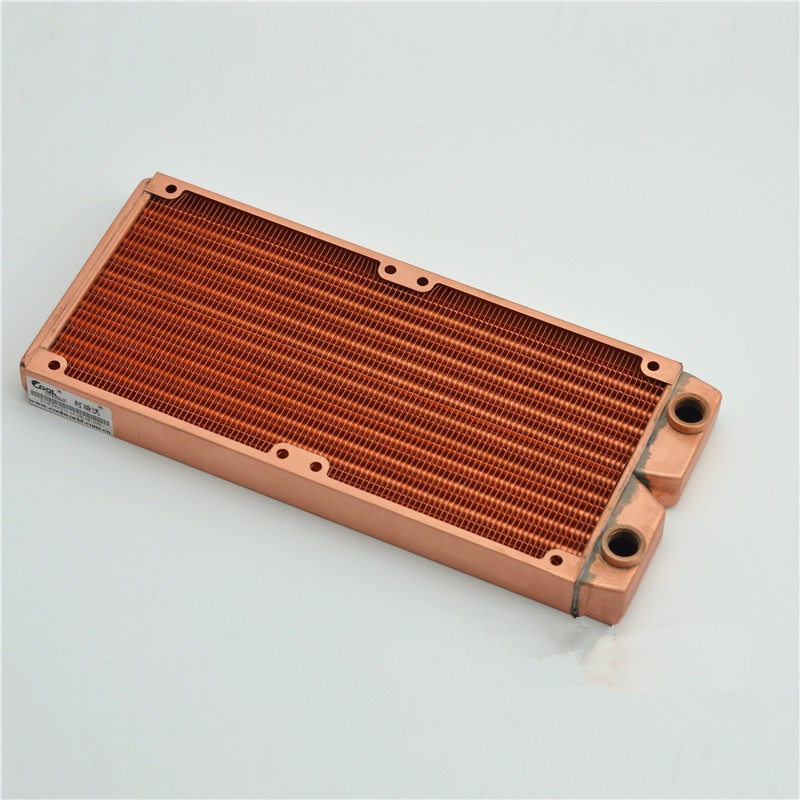 240*24*120MM computer water cooling copper discharge radiator fan Heat sink ultra-dense fin heat exchanger G1/4 aluminum water cooling 120 240 360 radiator liquid cooler for 120mm fan g1 4 heat exchanger cooled computer