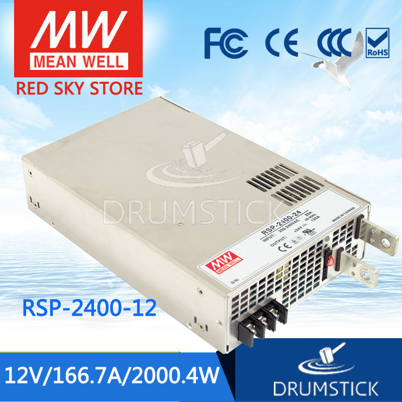 Redsky1 [YXEY] Hot! MEAN WELL original RSP-2400-12 12V 166.7A meanwell RSP-2400 12V 2000.4W Single Output Power Supply