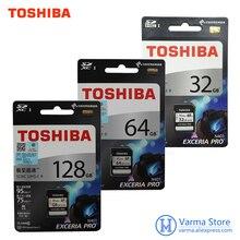 オリジナル東芝 exceria プロ SD カード N401 SD フラッシュカード sd メモリーカード UHS I U3 32 ギガバイト 64 ギガバイト 128 ギガバイト Class10 4 18K UltraHD SDHC SDXC