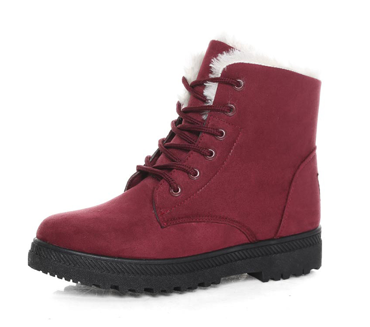 Women's High Heels Plush Winter Boots 24