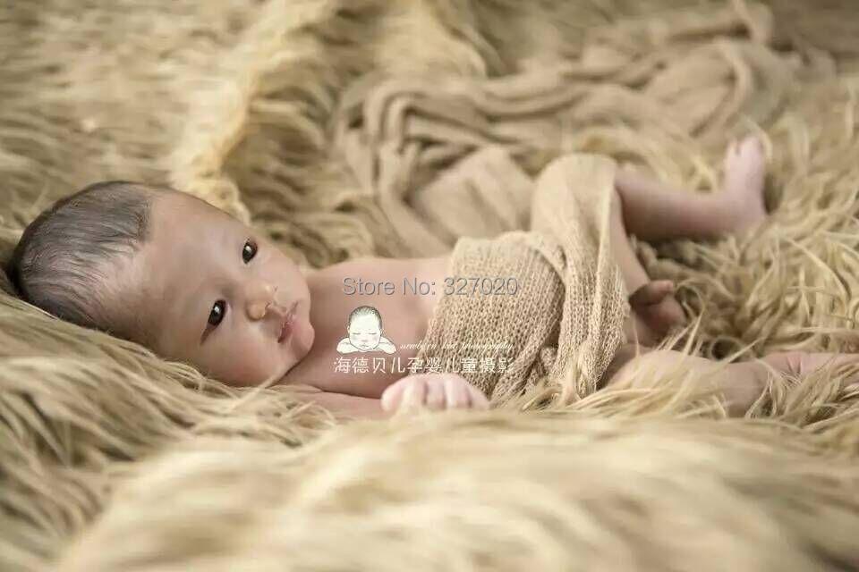 150*100cm 7COLORS Faux Flokati Fur Newborn Photo Props Pony Newborn Baby Newborn Photo Props Fur Basket Stuffer, Baby Blanket