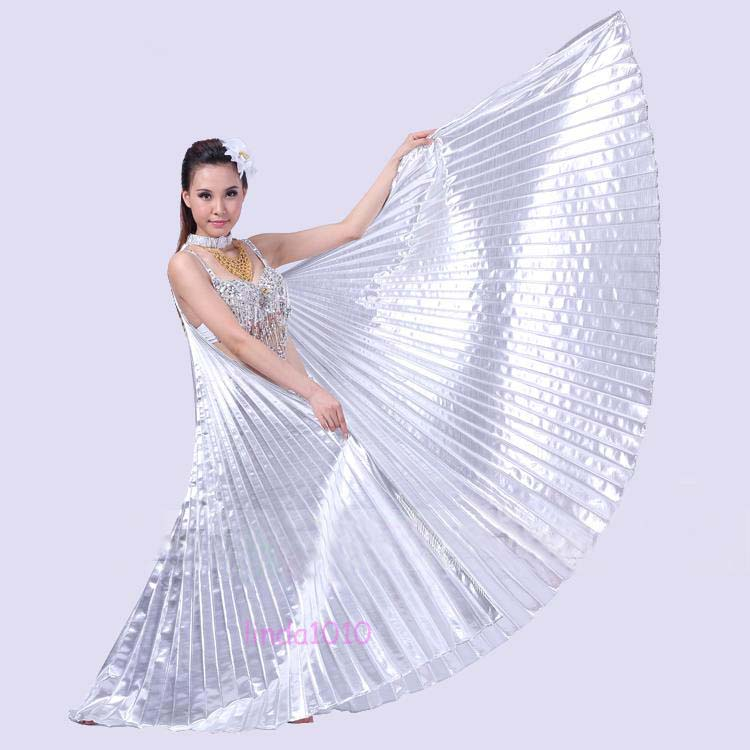 NEW Professional Dancing Belly Dance Costume 360° Isis Wings 11 colors