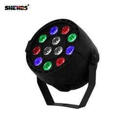 LED Par 12x3 W RGBW CONDUZIU a Luz Do Palco Par Luz Com DMX512 para disco DJ projetor Partido máquina decoração SHEHDS Iluminação de Palco