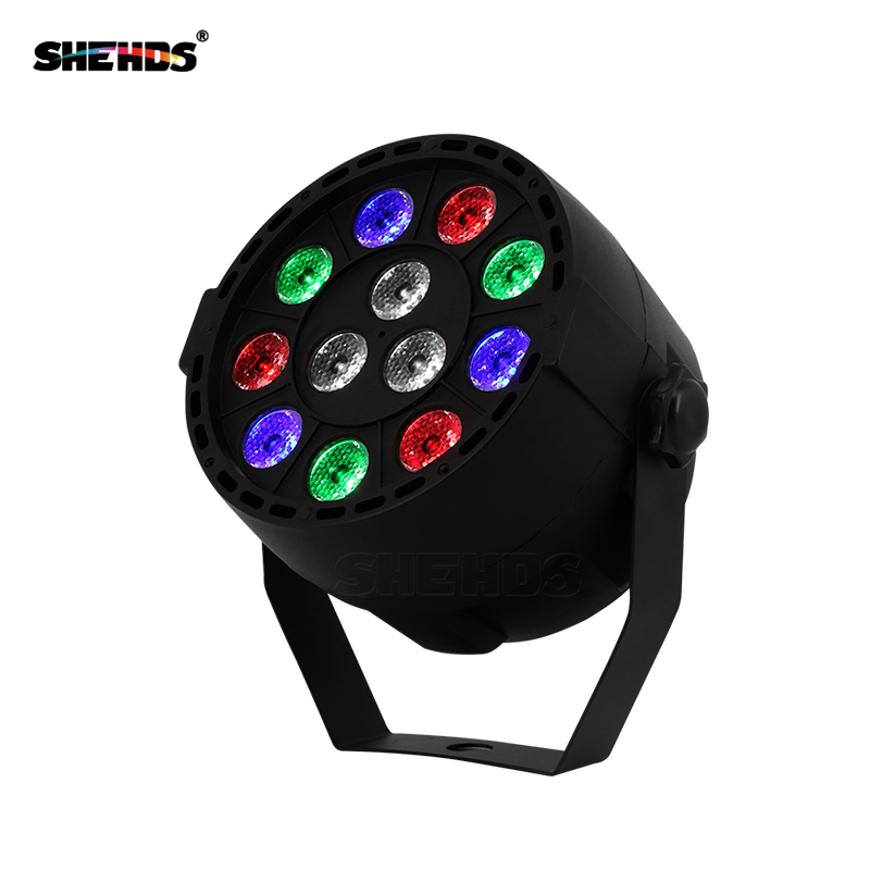 LED Par 12x3W RGBW LED Stage Light Light DMX512 დისკი DJ პროექტორის მანქანით Party Decoration SHEHDS Stage Lighting