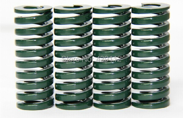 free shipping 10Pcs 20mm x 10mm x 25mm Spiral Metal Stamping Compression Die Spring free shipping 16mm x 8mm x 50 mm green metal tubular section mould die spring 10pcs lot