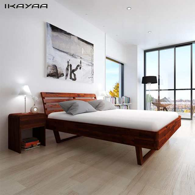 Double Bed Acacia Wood Frame