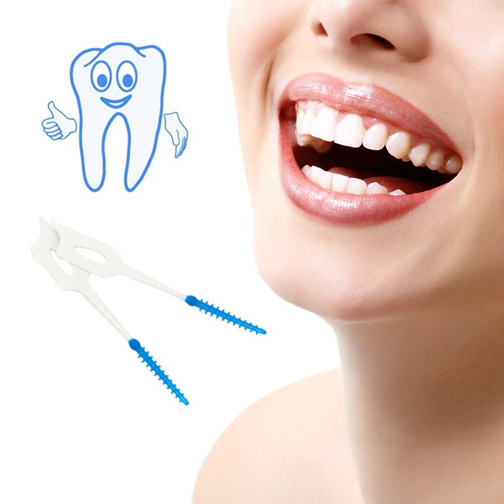 5fc8baccd 40 peça embalagem Dentes Vara Palitos Fio Dental Higiene Bucal Escova Macia  Gengivas Massagem Gengiva. R  5 ...
