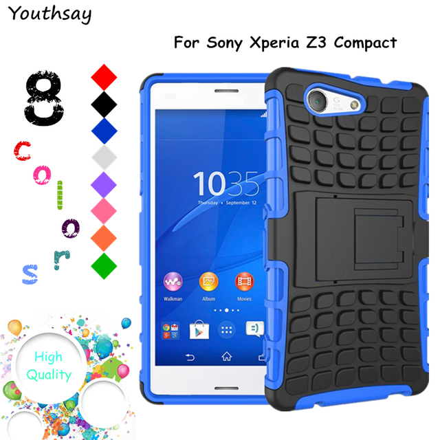 best loved c9b38 c4bc9 US $4.19 |sFor Sony Xperia Z3 Compact Case D5803 Armor Rubber Hard Back  Phone Case For Sony Xperia Z3 Compact Cover For Xperia Z3 Compact<-in  Fitted ...