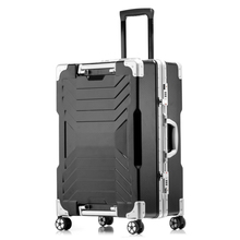 "20 ""24"" 28″ Aluminum frame PC travel trolley case 4 wheel luggage suitcase bag Business password box bolsa viagem rodinhas"