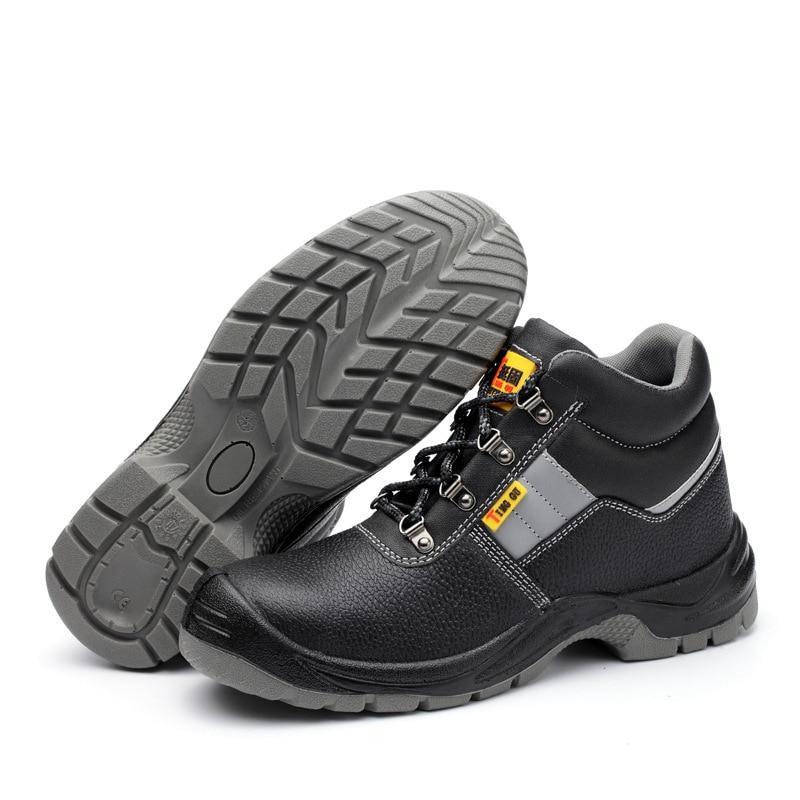En Safety Poussière 46 36 Anti Semelle Chaussures À Sécurité statique Bottes La Acier Hommes Cuir Travail Véritable Intercalaire De Taille Orteil Étanche Men Plus Shoes qBf0U
