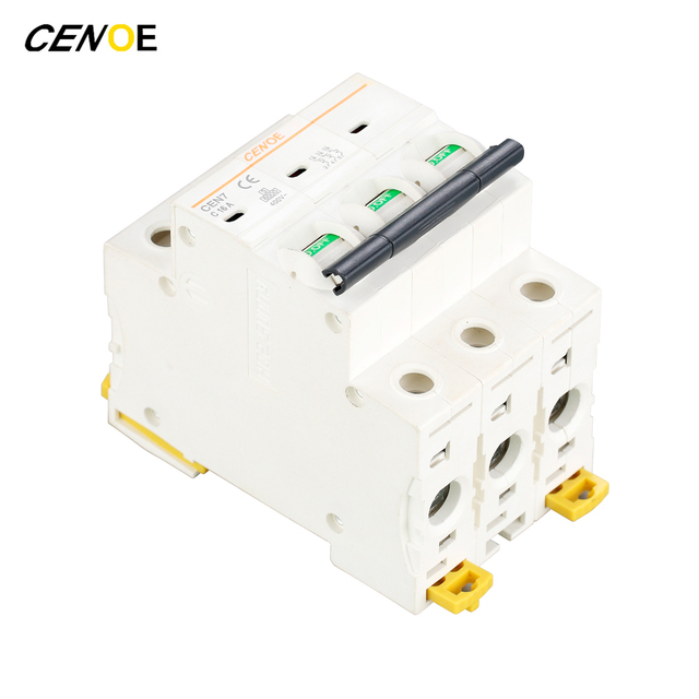 3p head switch function 415vac 16a mcb mini circuit breaker with3p head switch function 415vac 16a mcb mini circuit breaker with current overload short circuit protection good quality 2018