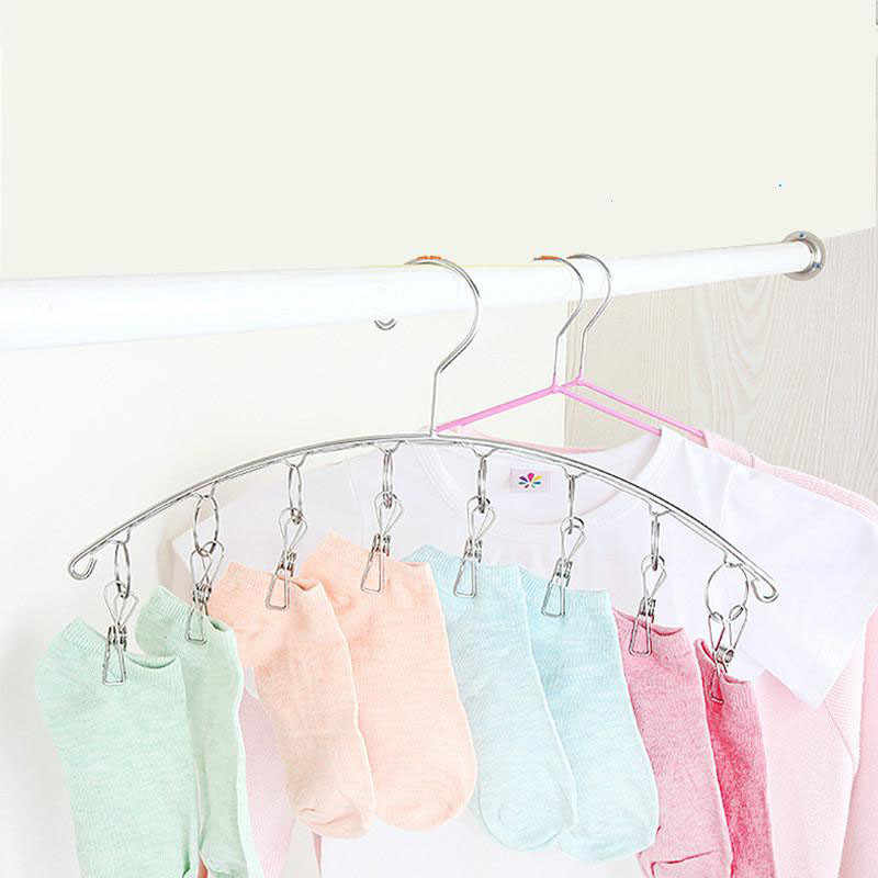 Bra Sock Hanger Drying Clothes Rack Dryer home stroage supplies Excellent 8Clips Folding Underwear Hanging