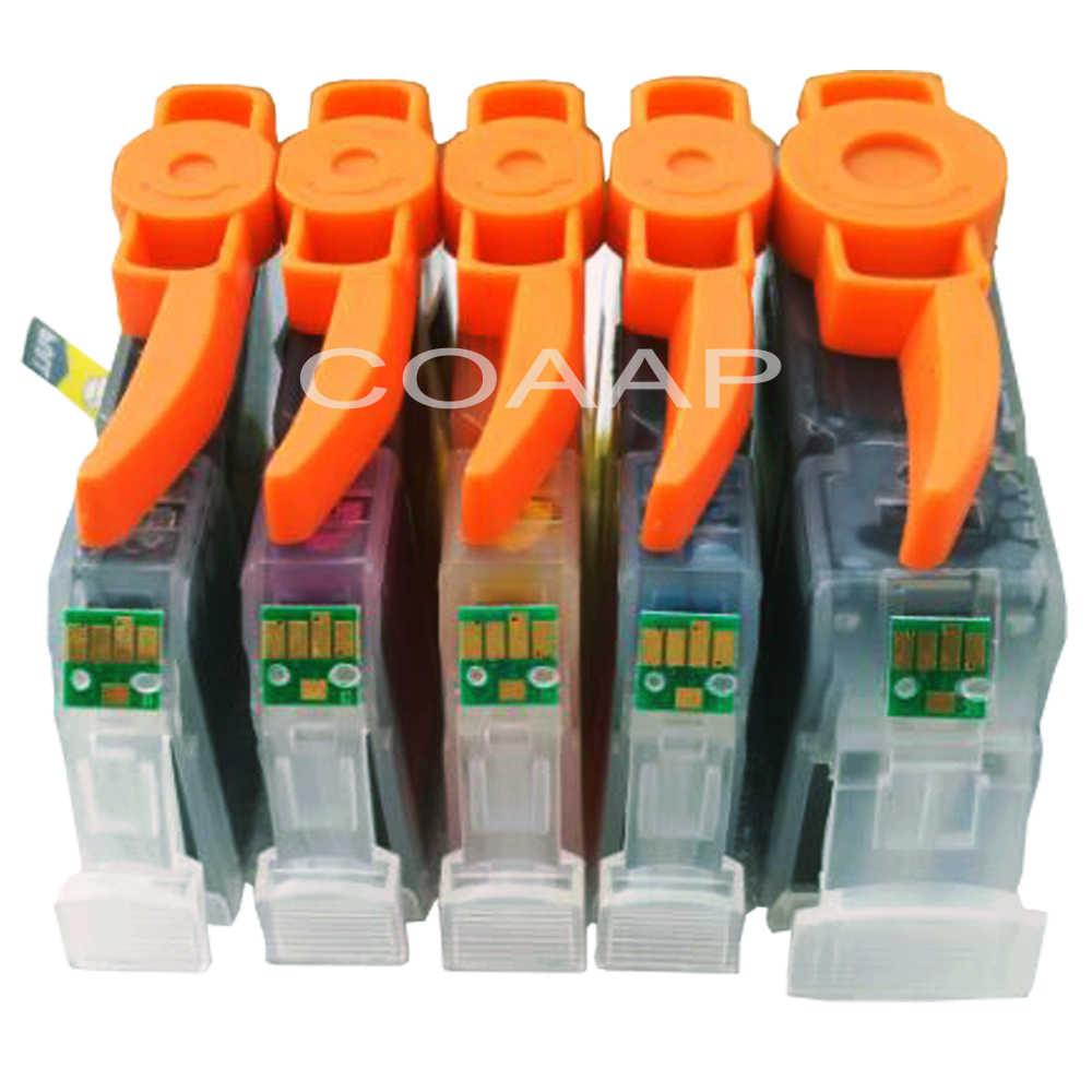5x ink cartridge kompatibel untuk canon pgi 5 cli 8 untuk pixma ip4200/ip3300/ip3500/ip4300