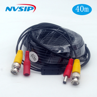 CCTV BNC DC Plug Cable for CCTV Camera Coaxial Video Power Cable for Surveillance camera DVR System Kit cable 40m dc q9