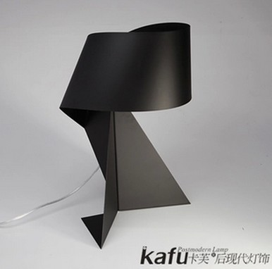 Black And White And Dichromatic Origami Desk Lamp Wrought Iron Lamp