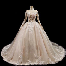 saf sid Ball Gown Long Sleeves Wedding Dress