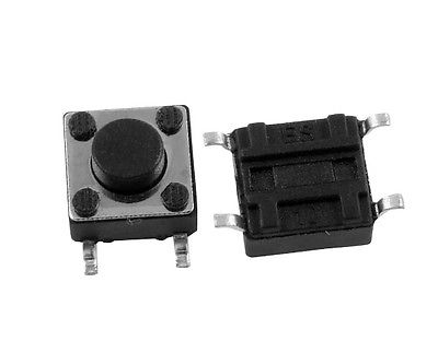 50 Pcs Momentary Tact Tactile Switch SMD SMT PCB 4 Pin 6 x 6 x 5mm 20 pcs panel pcb smd smt momentary 4 pins spst tactile switch 5x5x1 5mm