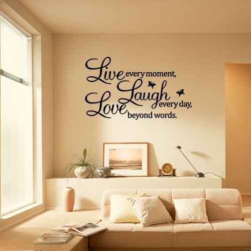 PVC LIVE LAUGH LOVE Letters Removable Room Art Mural Wall Sticker Decal Part 98