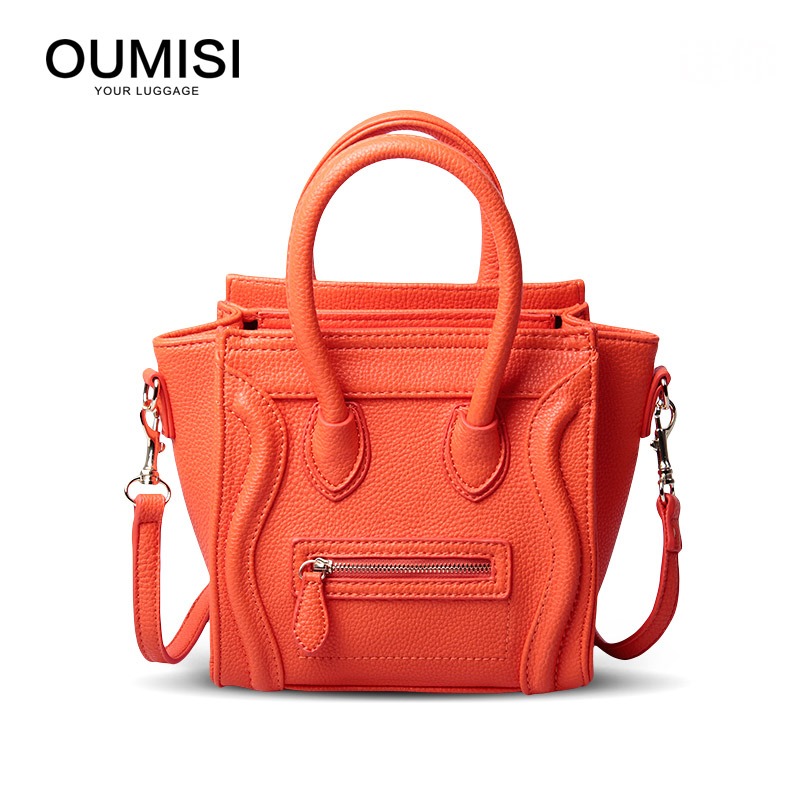 Oumisi bag 2018 mini bag Handbags PU Leather Women's Shoulder Crossbody Bags Solid Flap bag 18cm