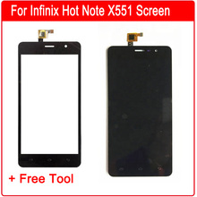 For Infinix Hot Note X551 Touch Screen Sensor Digitizer + LCD Display Assembly Replacement Repair Parts + Free Tools цена в Москве и Питере