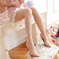 Transparent sexy pearl embroidered stockings Sweet retro thin pantyhose Fashion girl tights