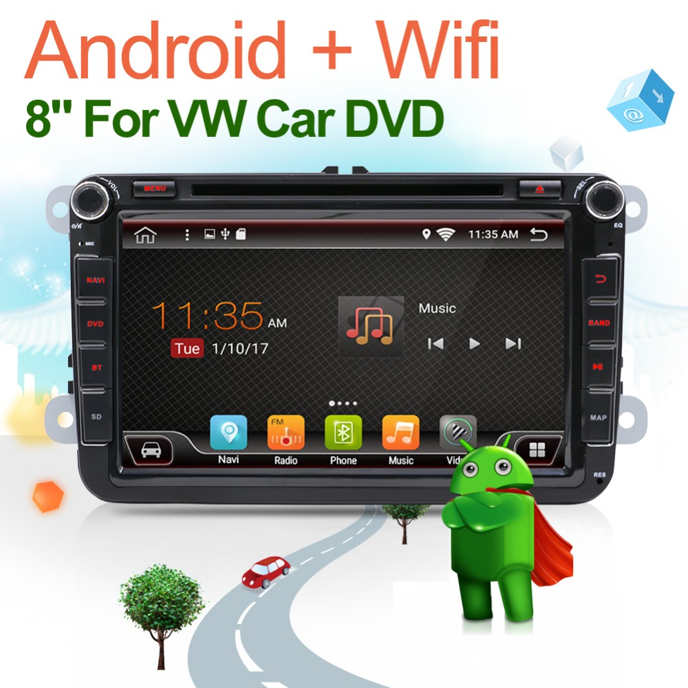 Android 7.1 autoradio <font><b>2</b></font> <font><b>din</b></font> car dvd <font><b>vw</b></font> GPS navigation for Volkswagen <font><b>GOLF</b></font> 4 <font><b>GOLF</b></font> 5 <font><b>6</b></font> POLO PASSATCC JETTA TIGUAN TOURAN image
