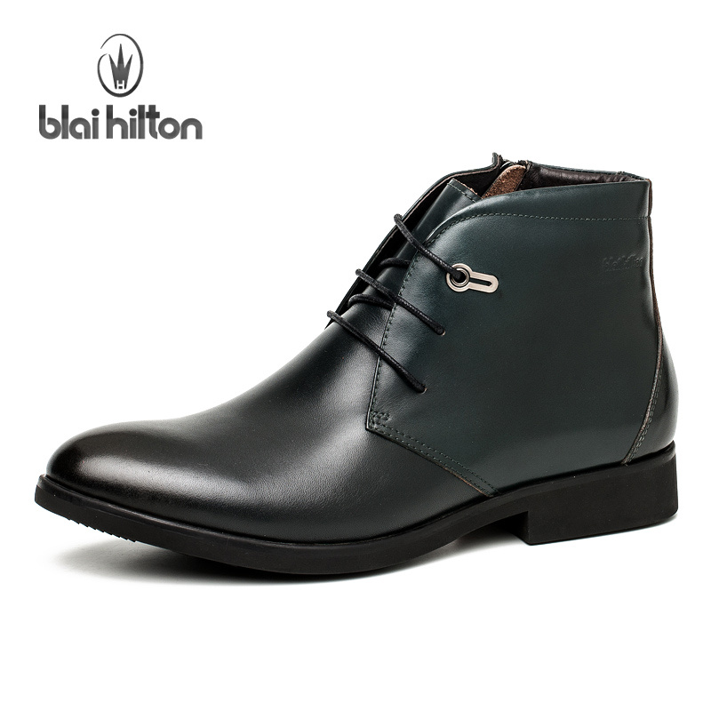 Blai Hilton 2017 Autumn/ Winter men shoes Genuine Leather boots Breathable/Comfortable British Style Men's Casual Martin Boots 2017 new autumn winter british retro men shoes zipper leather shoes breathable sneaker fashion boots men casual shoes