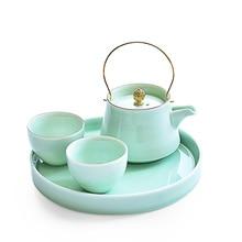 Чайник Celadon с подъемной ручкой, креативный бытовой керамический чайный набор, лучший подарок для отца, подарок на день отца