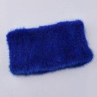 Women fashion fur Scarf Mink knit scarves Warm fur headband Womens Real Mink Muffler Ladies Natural Mink Fur elasticity Scarf