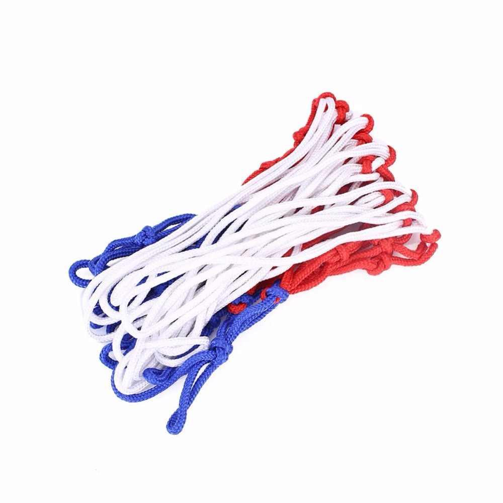 ユニバーサルカラフルなバスケットボールネットバスケットボールバスケットバックボードメッシュネットネット標準フープリムナイロンフープ目標リムメッシュ