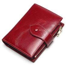 New ladies leather short multi-card coin purse Korean version of the cute multi-function two-fold wallet