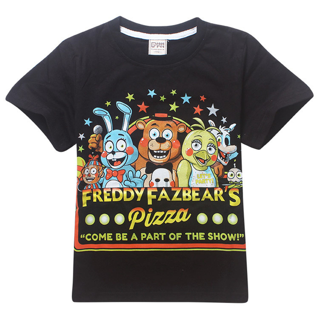 c50b74df9c0f7 US $7.25 37% OFF|Baby boy clothes cartoon children t shirts game five  nights at freddy's clothing camiseta kids girls boys t shirt 5 freddys  tops-in ...
