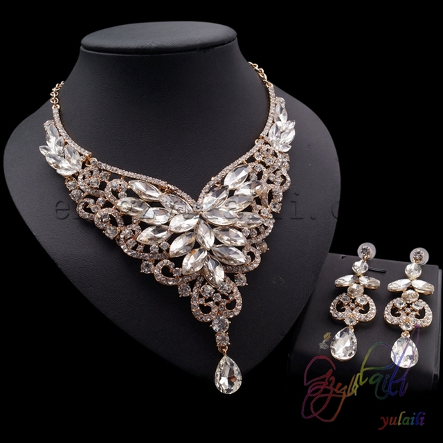 Latest indian fashion wedding bridal jewelry set beautiful jewelry