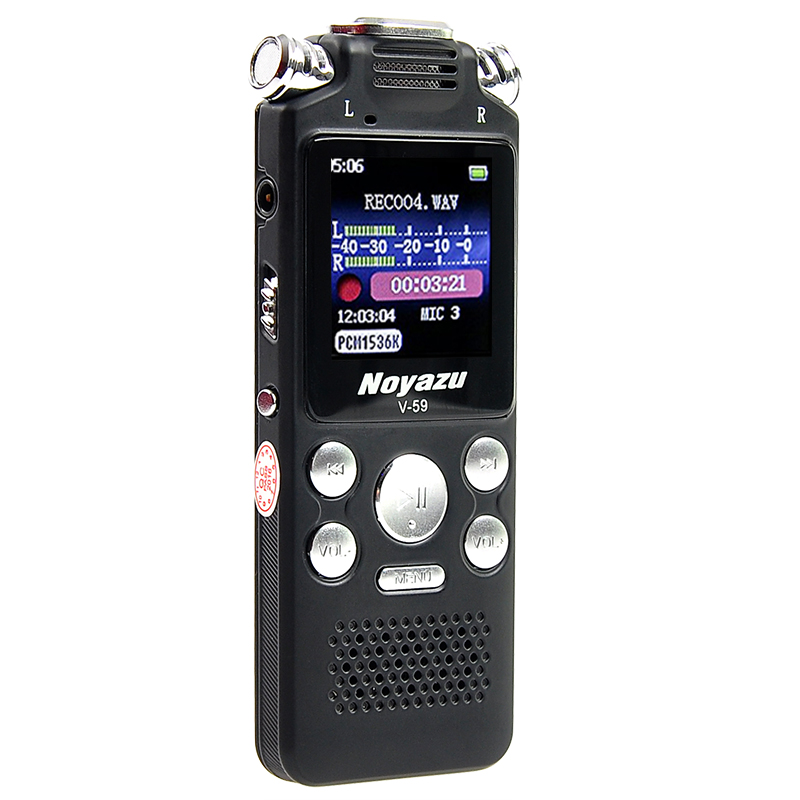 Fast Charging 16G Two-way Microphone Sound Recording Digital Audio Voice Recorder Noise Reduction 1